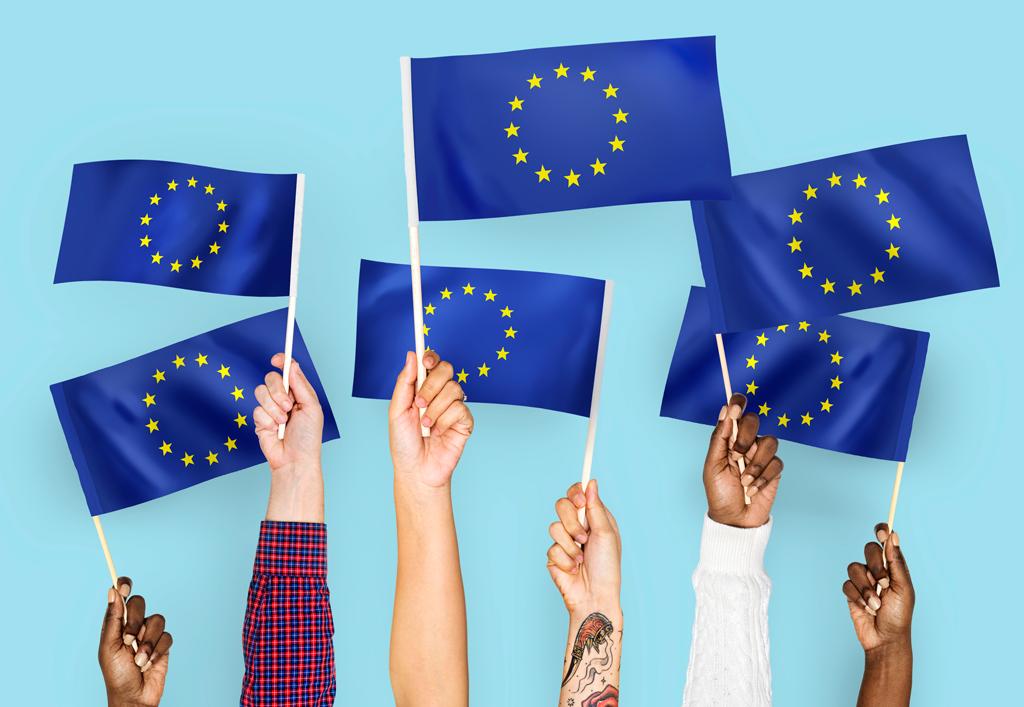 Photo drapeau européen
